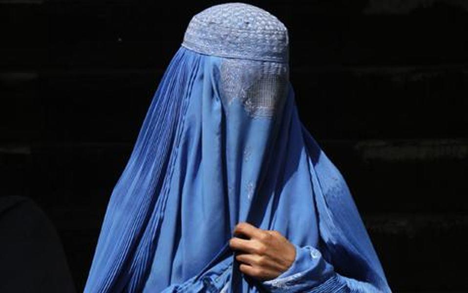 Woman wearing Burkha