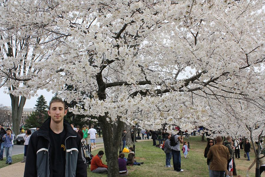 Dave from A Couple Traveler at Cherry Blossom DC 2011