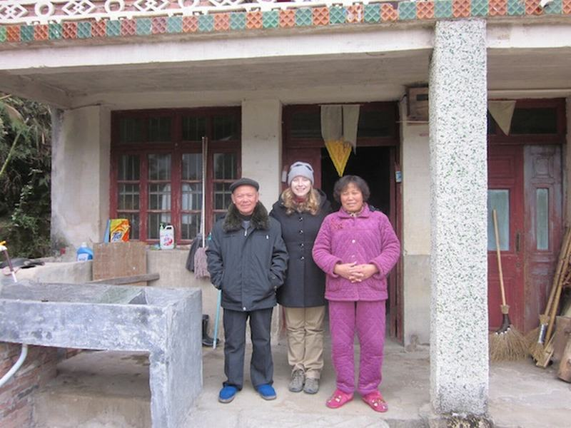 Becky Ances with her best friends grandparents in China