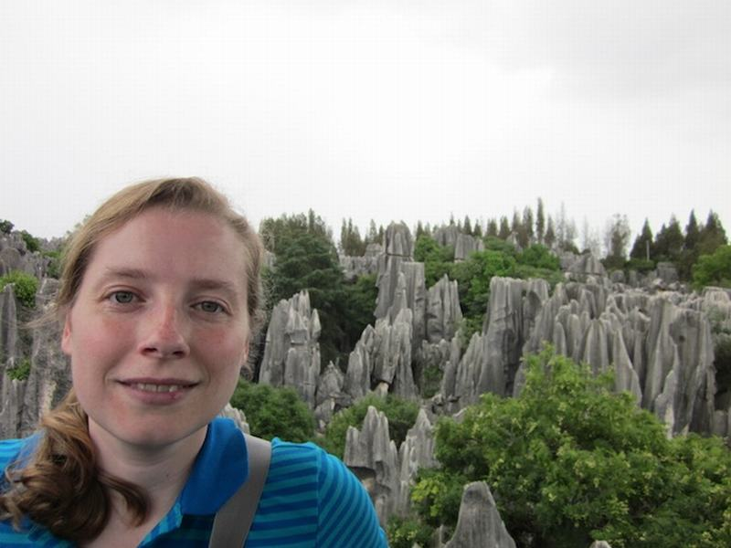 Becky Ances at the Stone Forest