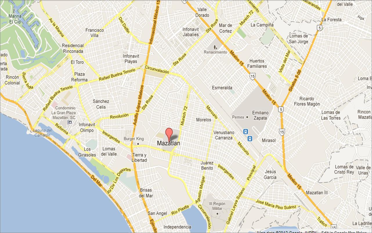 Mapa Manzatlán