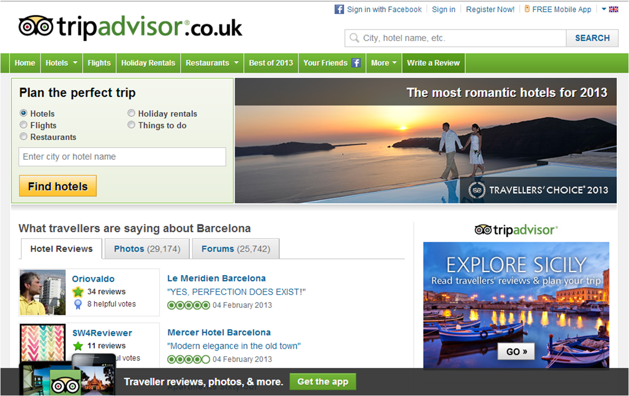 TripAdvisor ENG The Best Website For Travel Opinions