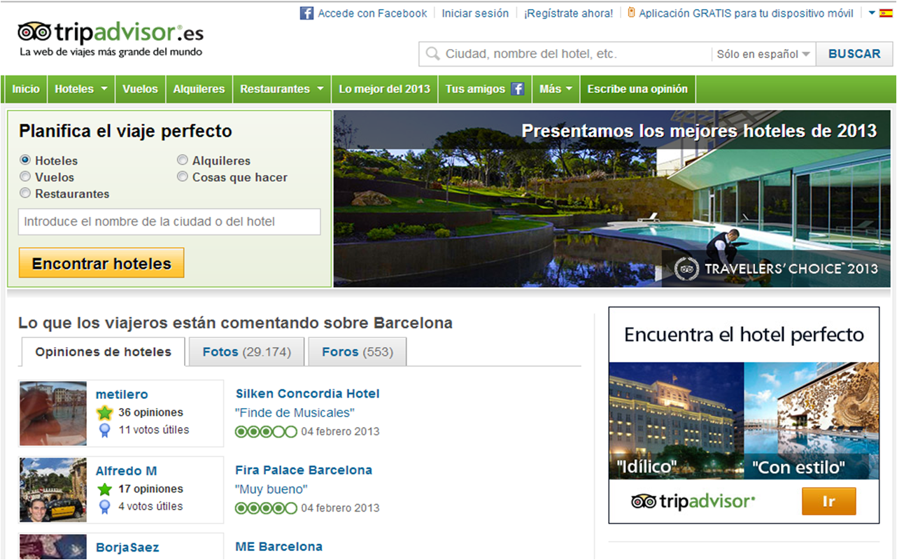 TripAdvisor - La mejor pagina web para leer opiniones