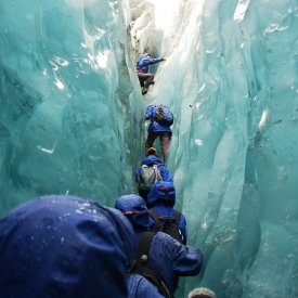 Trekking on the Franz Josef Glacier