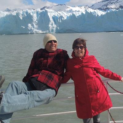 Gloria viajó a Argentina