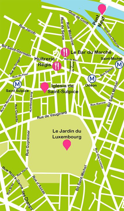 Mapa Saint Germain des Pres