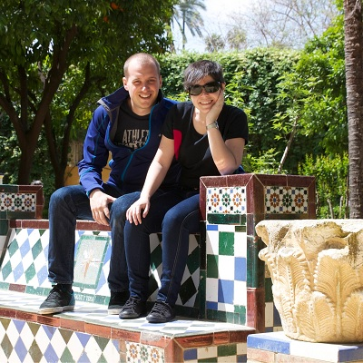 Nuria de Barcelona viajó a Sevilla