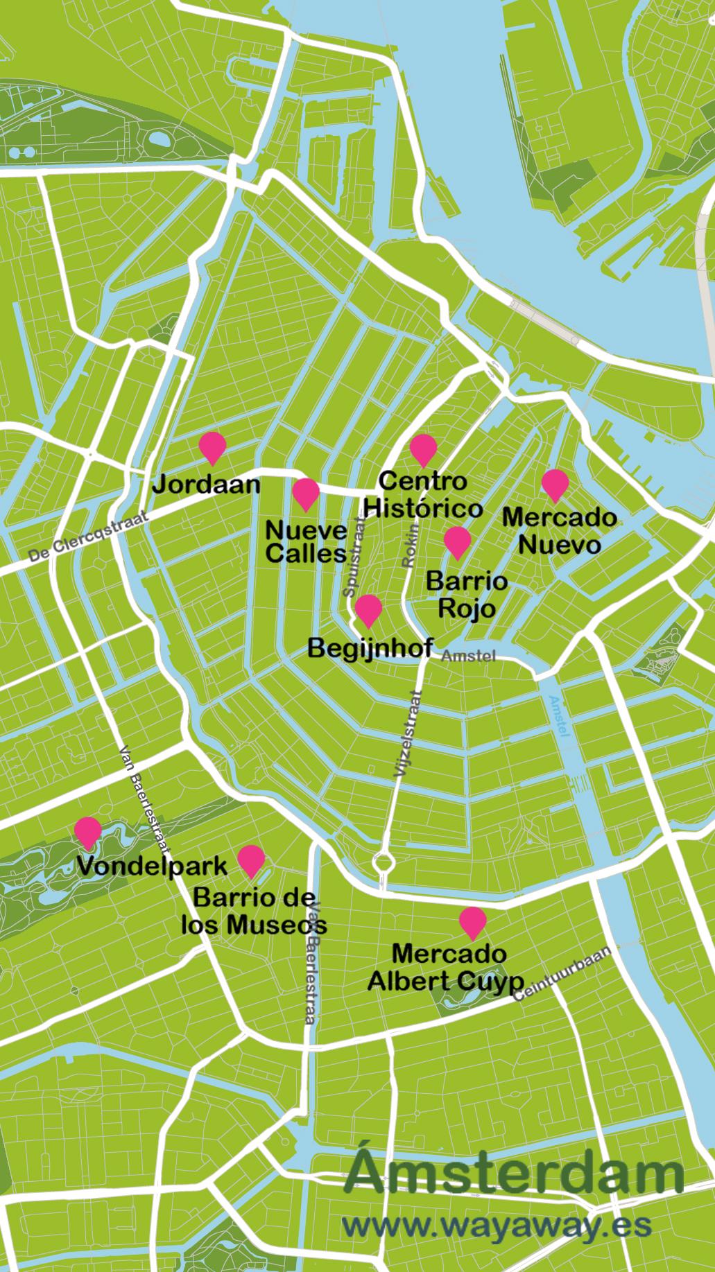 Mapa de Amsterdam #onlyes