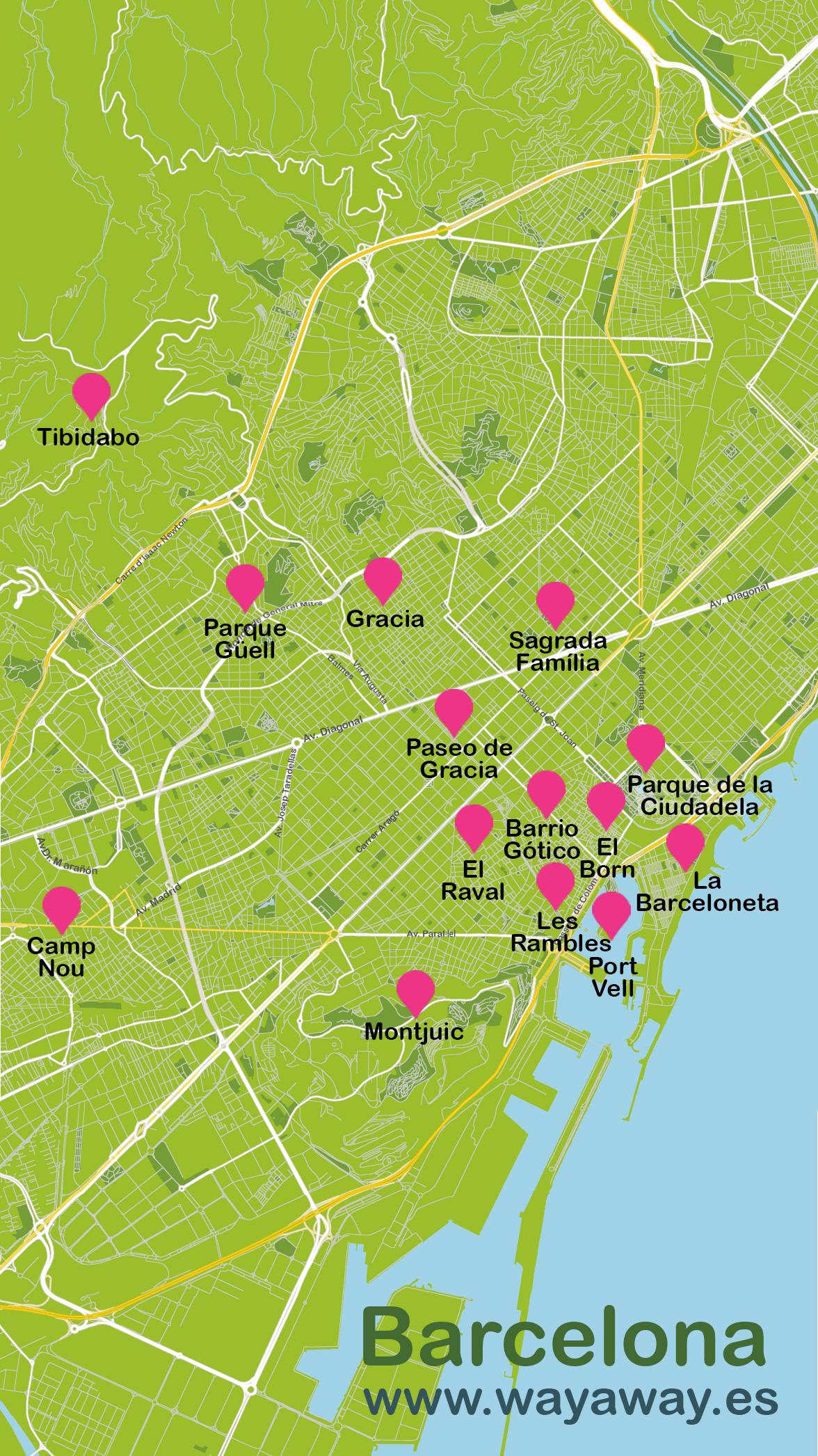 Mapa de Barcelona #onlyes