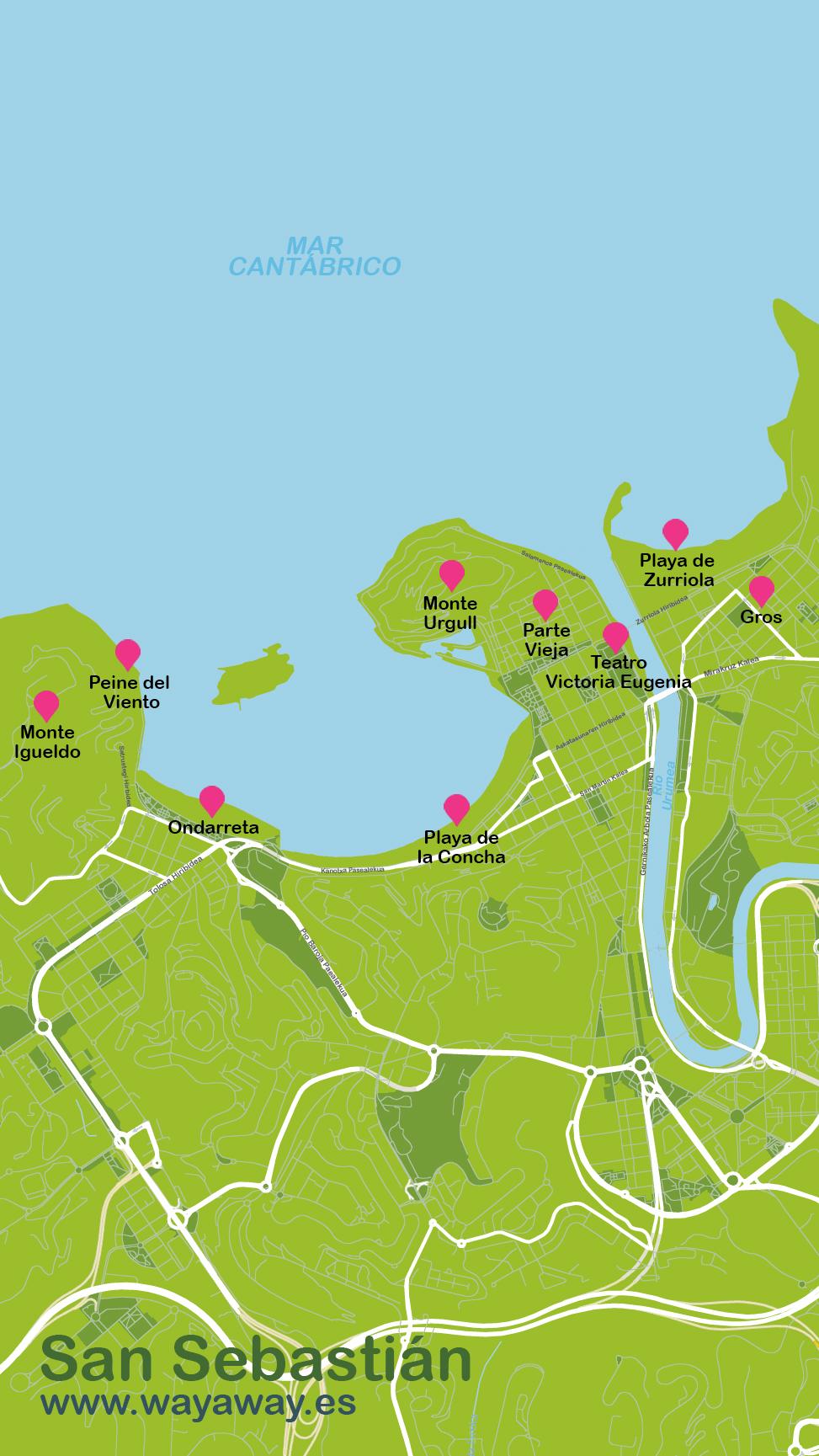 Mapa de San Sebastián #onlyes