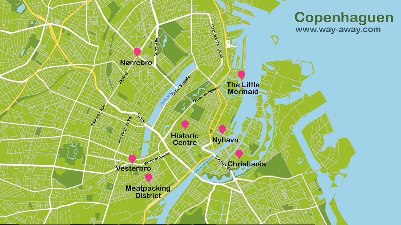 Map of Copenhaguen #onlyen
