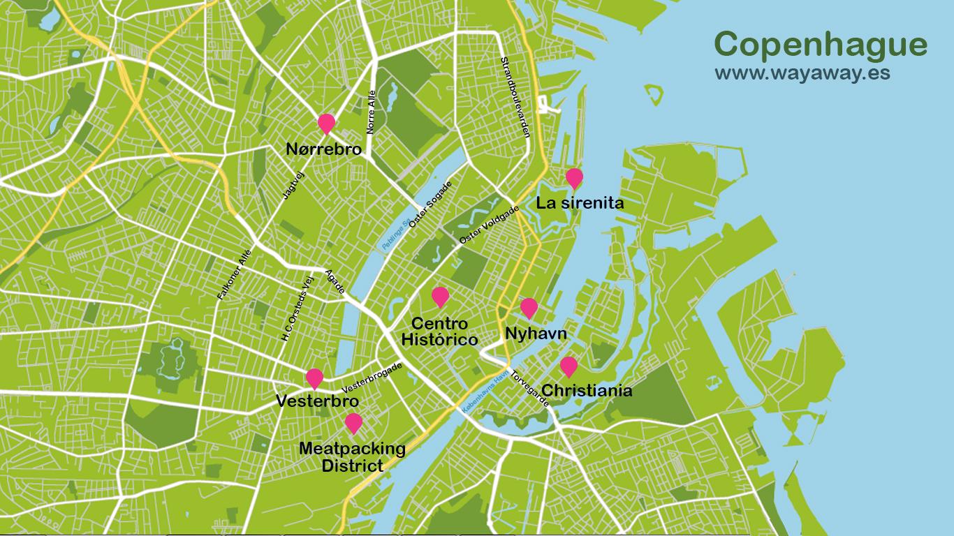 Mapa de Copenhague #onlyes