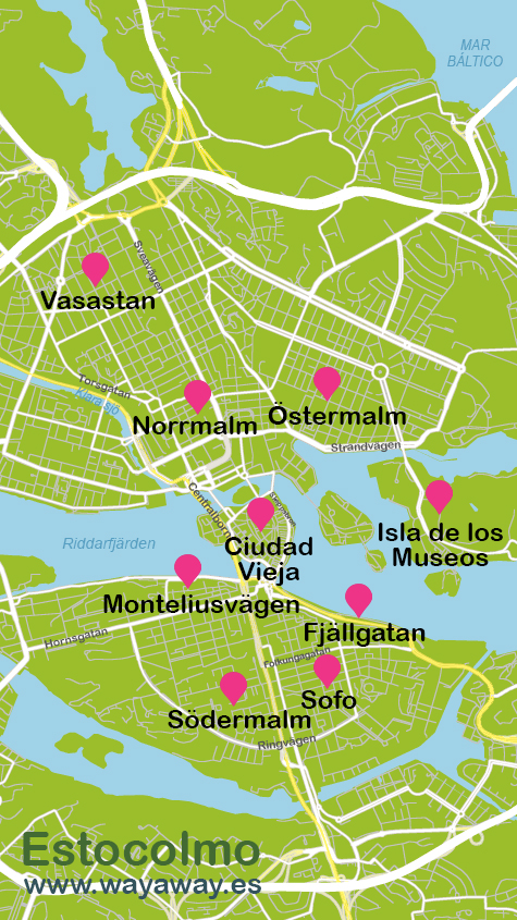 estocolmo mapa Mapa de Estocolmo | Plano con rutas turísticas estocolmo mapa