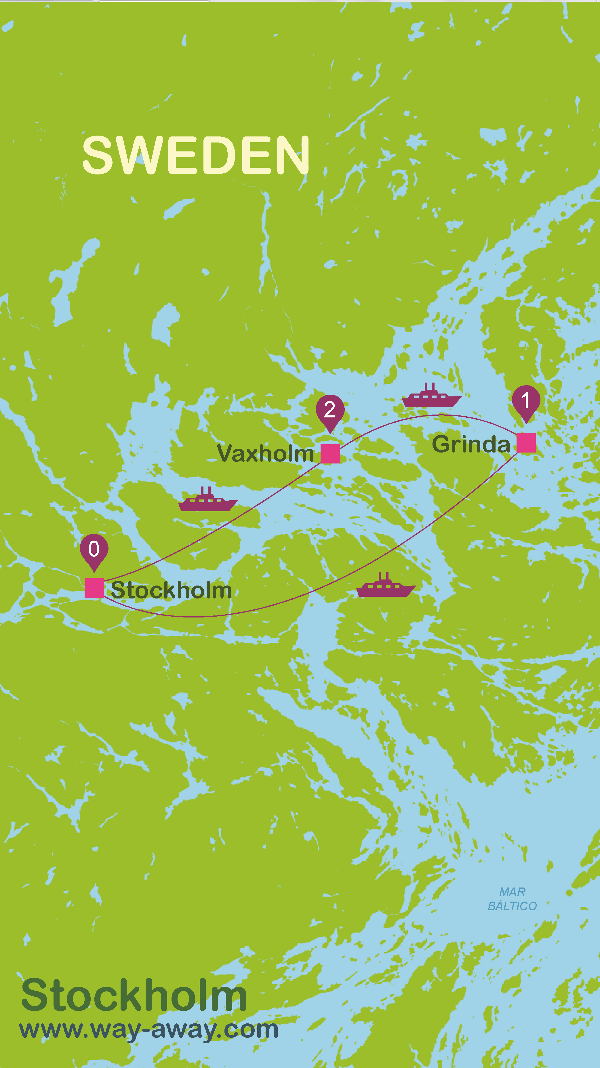 Map of Stockholm #onlyen