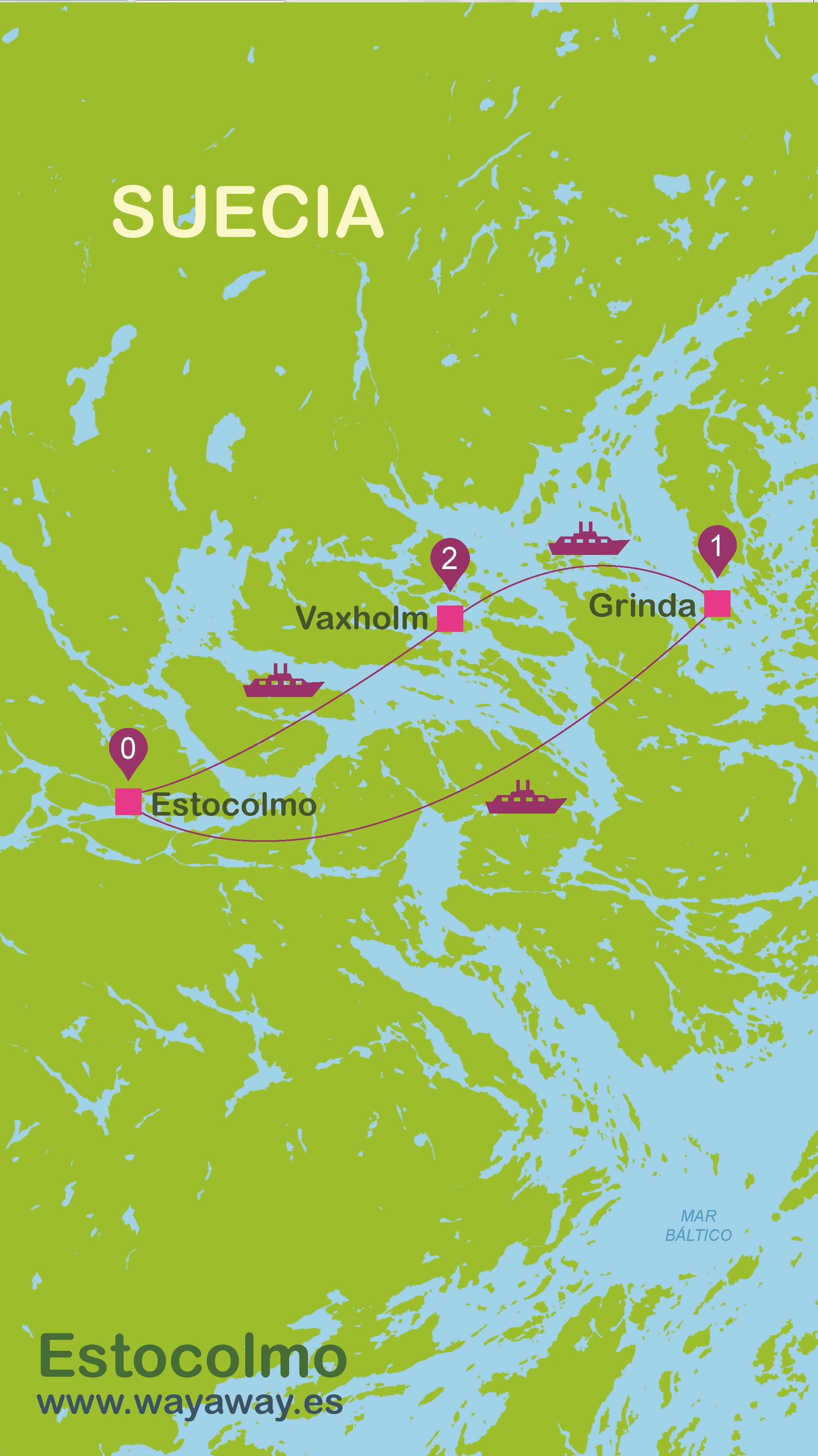Mapa de Estocolmo #onlyes