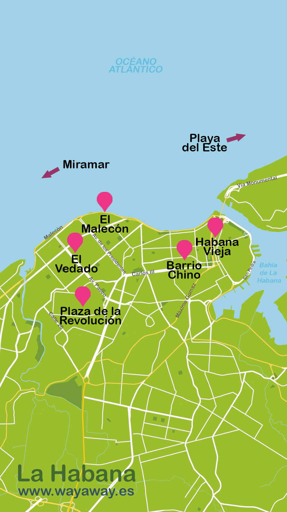 Havana travel map Havana plane