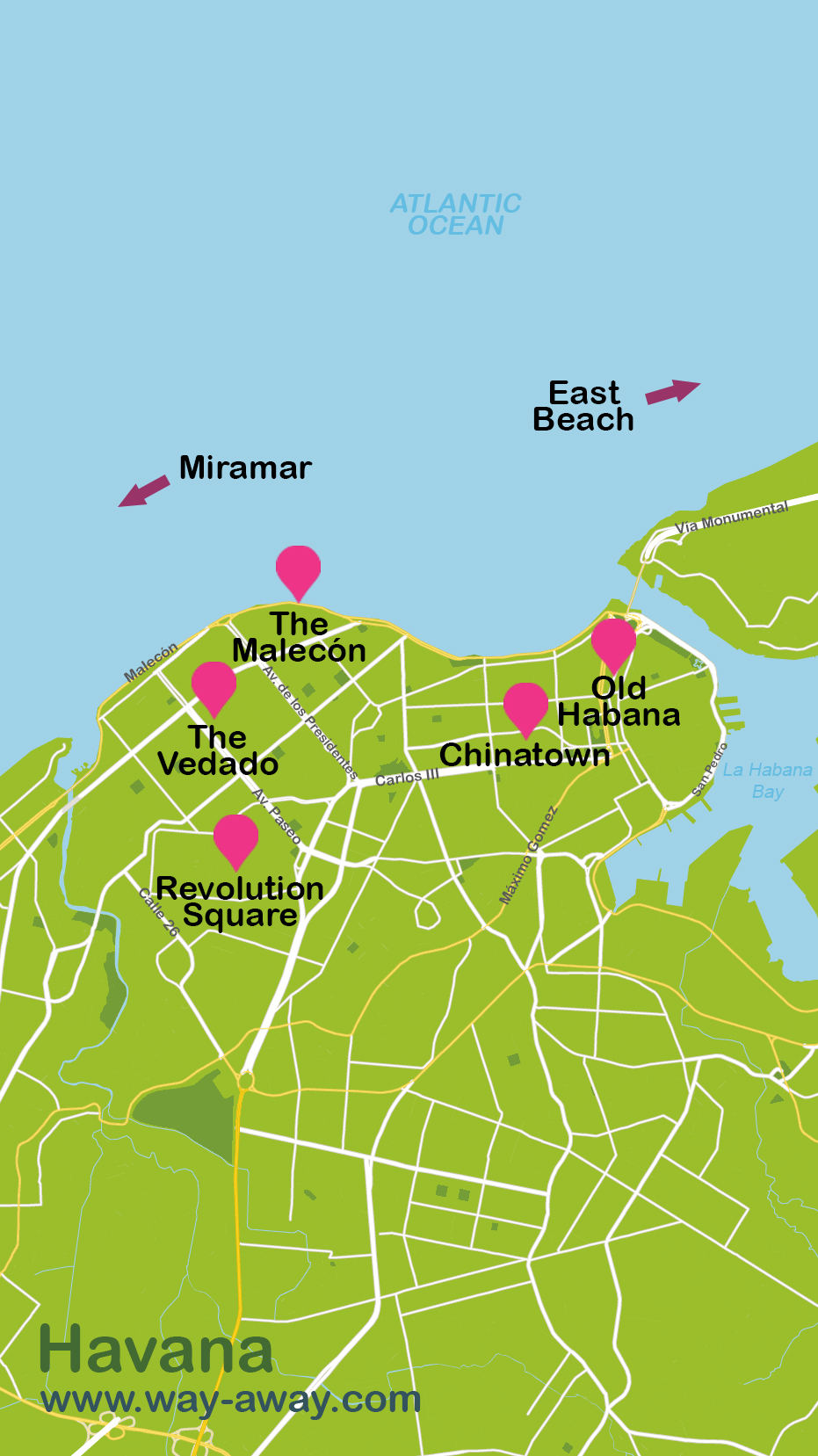Mapa y plano La Habana
