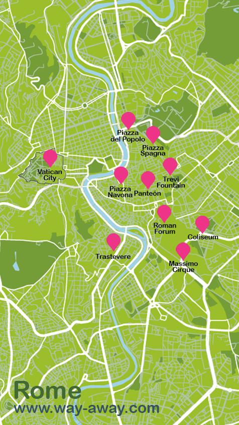 Map of Rome #onlyen