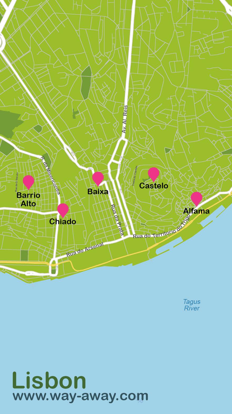 Map of Lisbon #onlyen