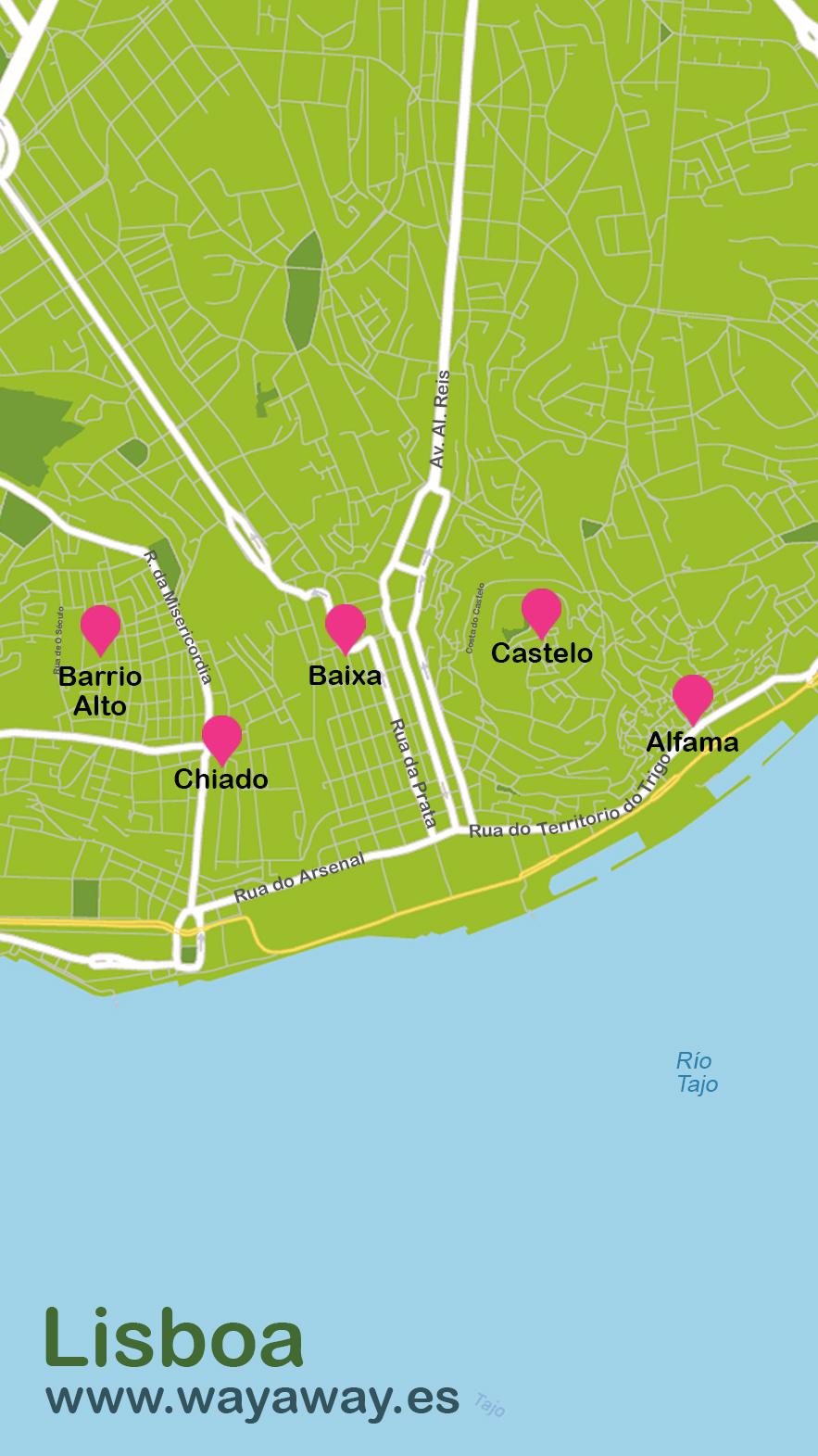 Mapa de Lisboa #onlyes