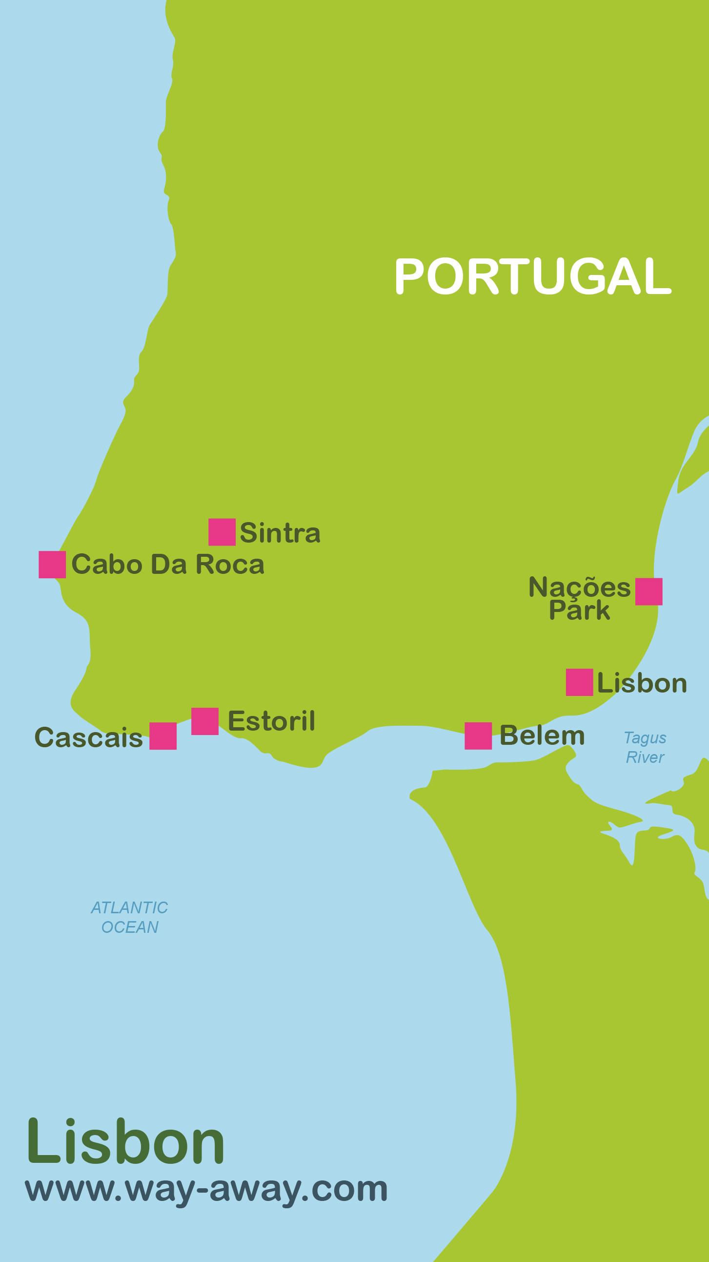 Map of Lisbon (Lisbon Region) #onlyen