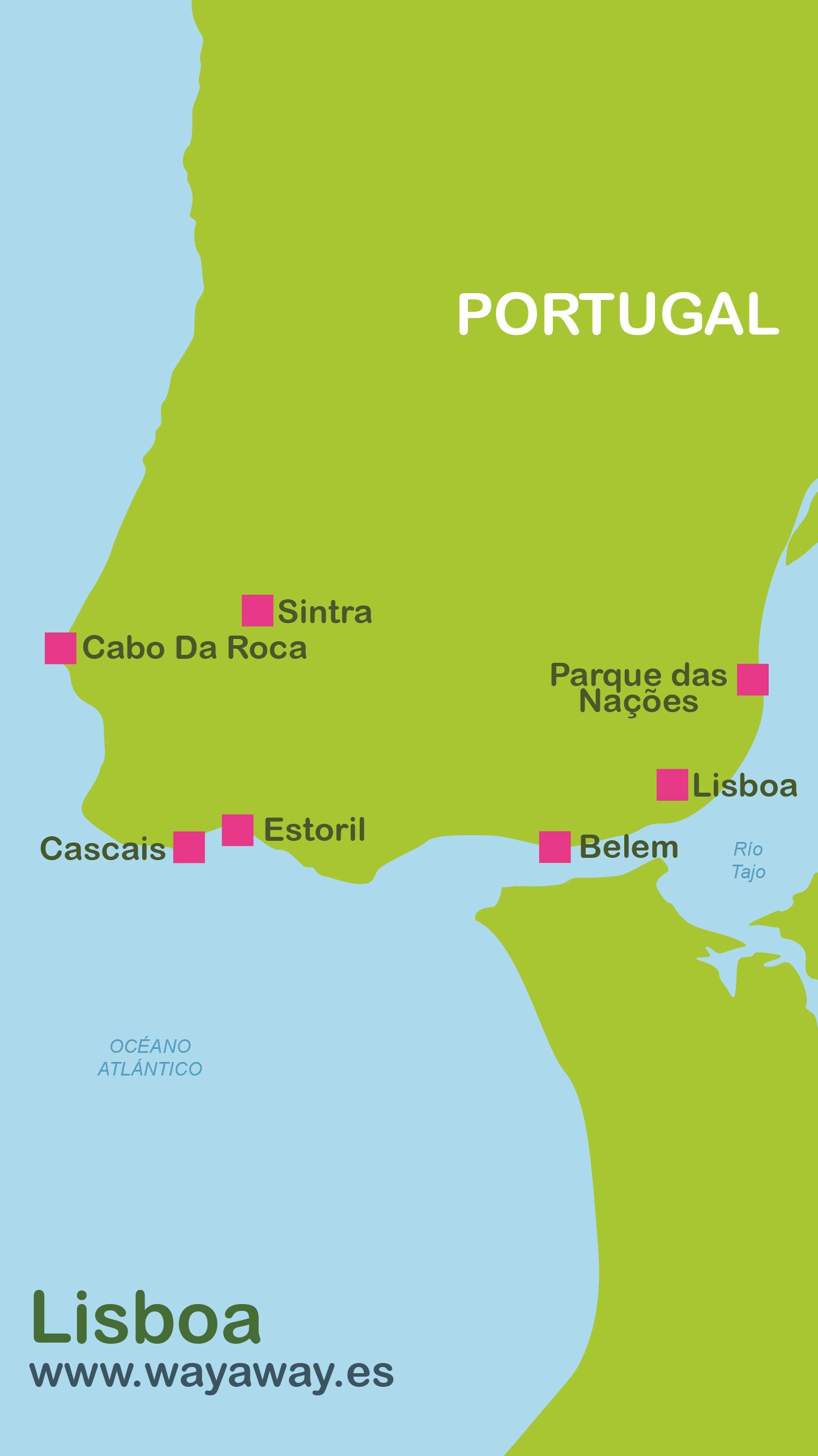 lisboa no mapa Mapa de Lisboa | Plano con rutas turísticas lisboa no mapa