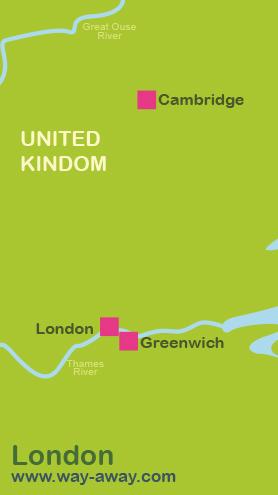 Map of London-Greenwich-Cambridge #onlyen