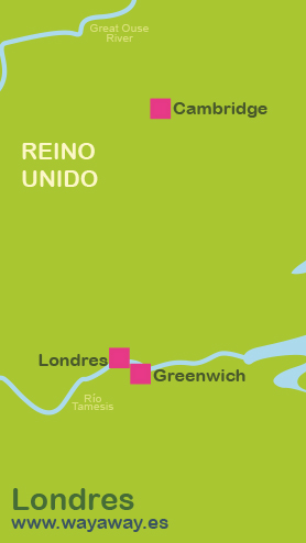 Mapa de Londres-Greenwich-Cambridge #onlyes