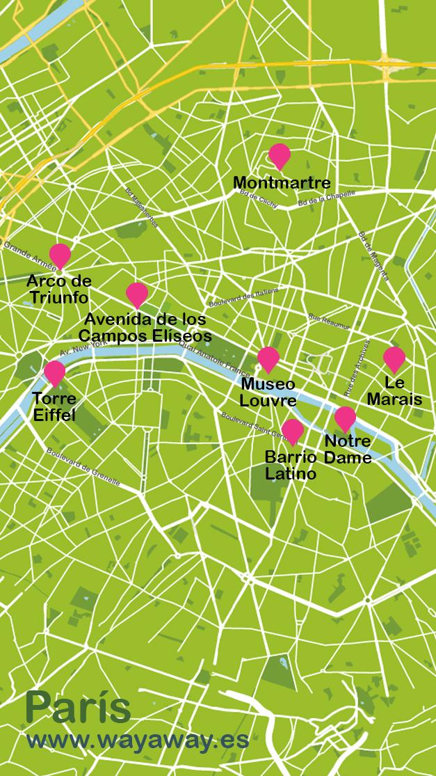 Mapa de París #onlyes