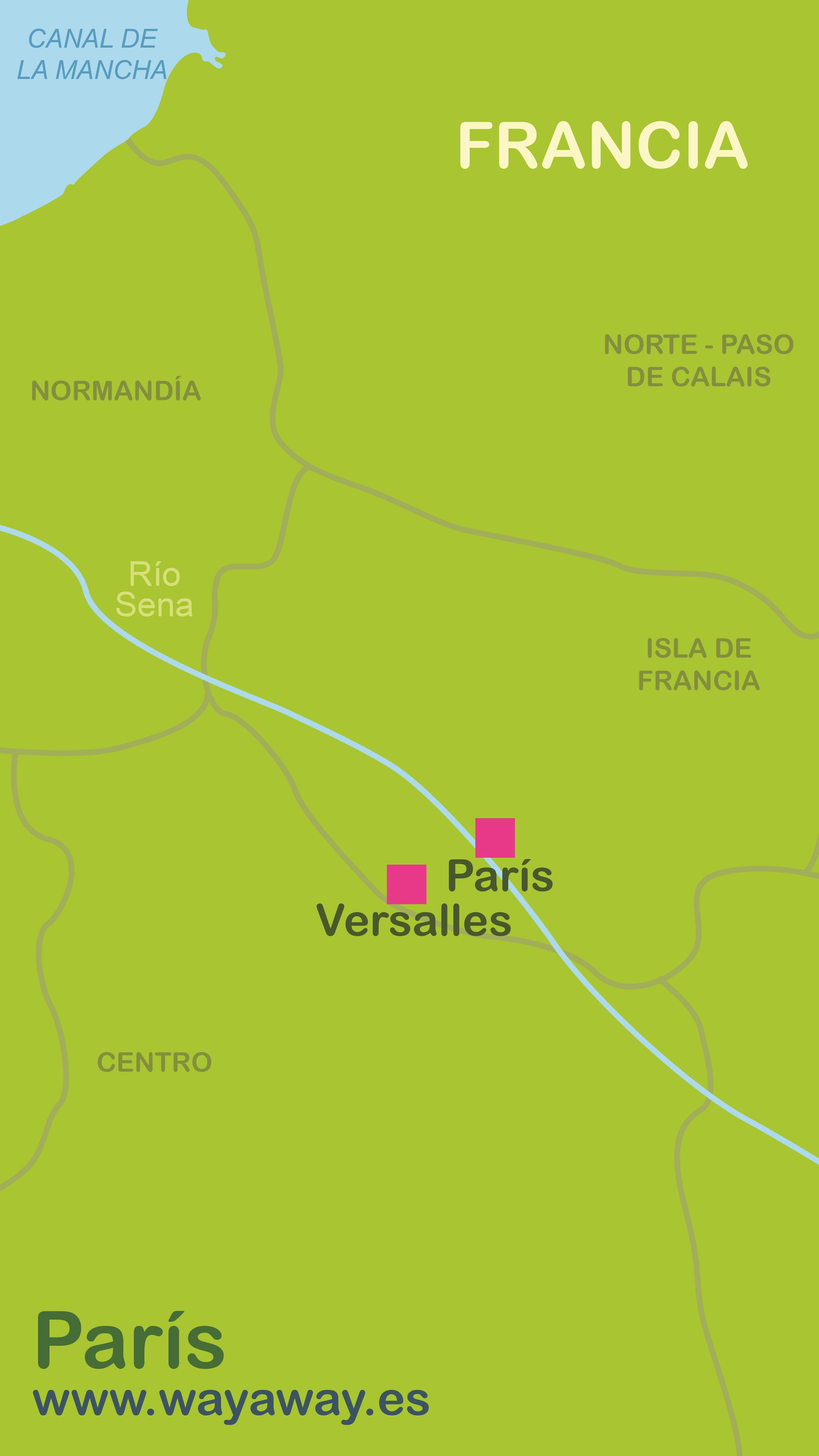 Map of Paris-Versalles #onlyen