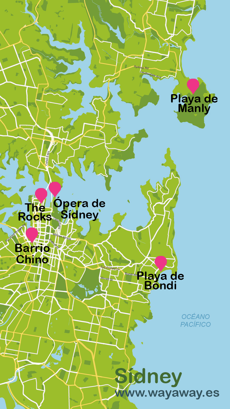 Map of Sidney #onlyen