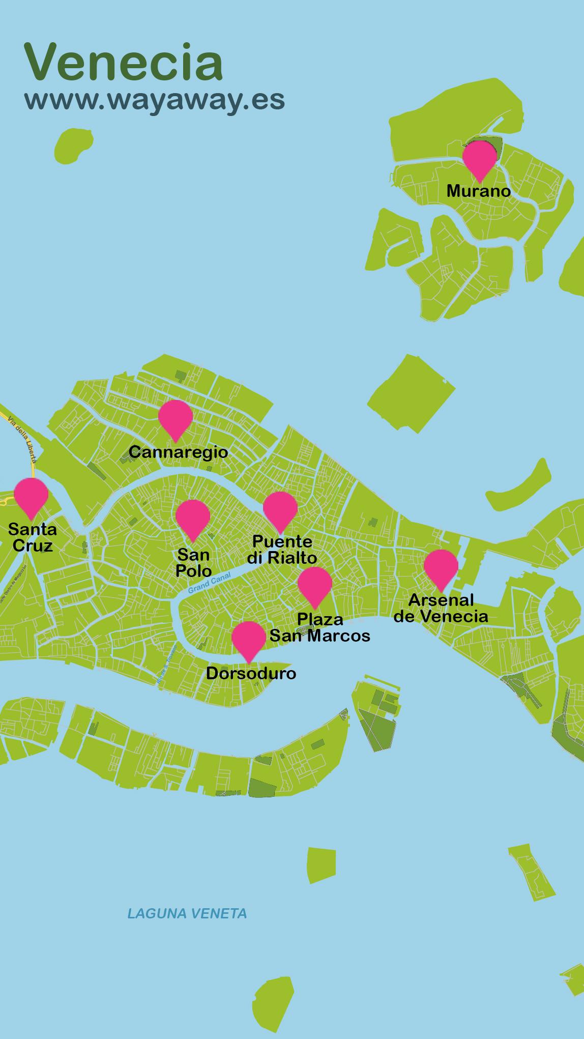 Mapa de Venecia #onlyes