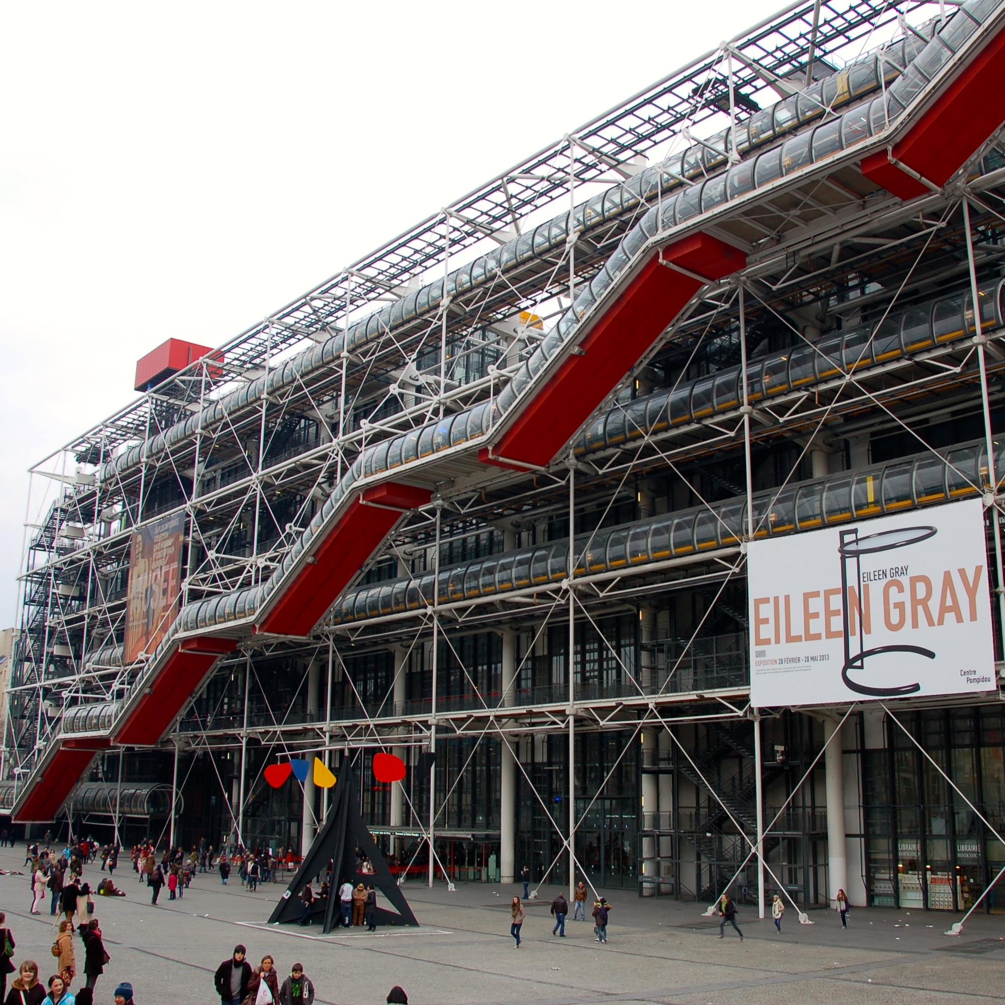 The Marais and the George Pompidou Centre.