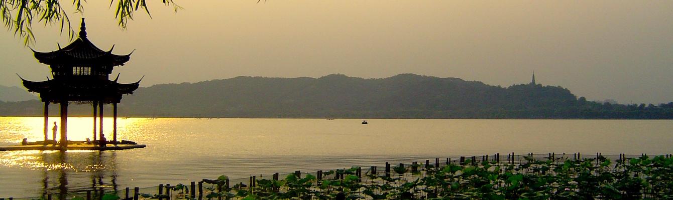 Lago del Oeste en Hangzhou