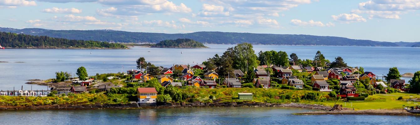 fiordos en el ferri de Copenhage a Oslo