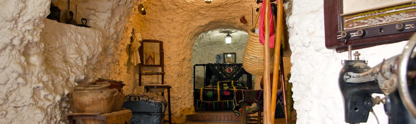 Las casas cueva del Sacromonte,Granada