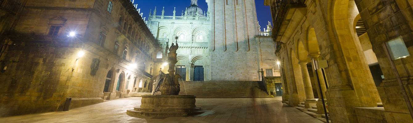 El centro histórico de Santiago
