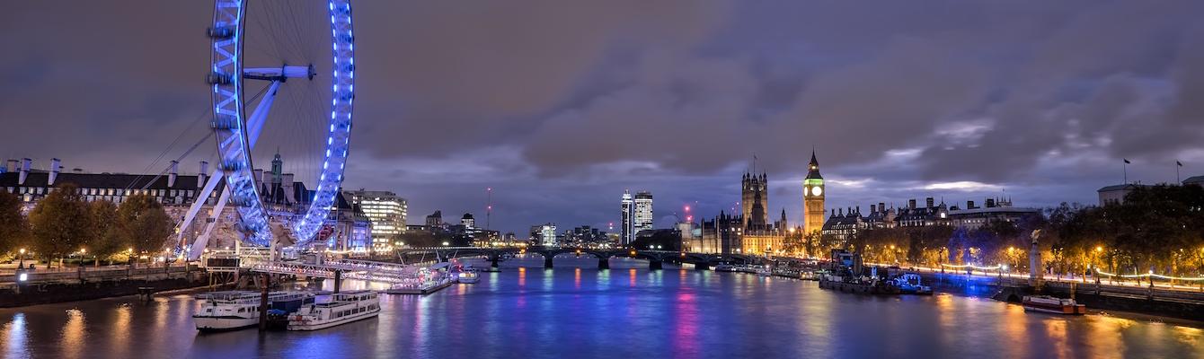 El río Támesis de Londres