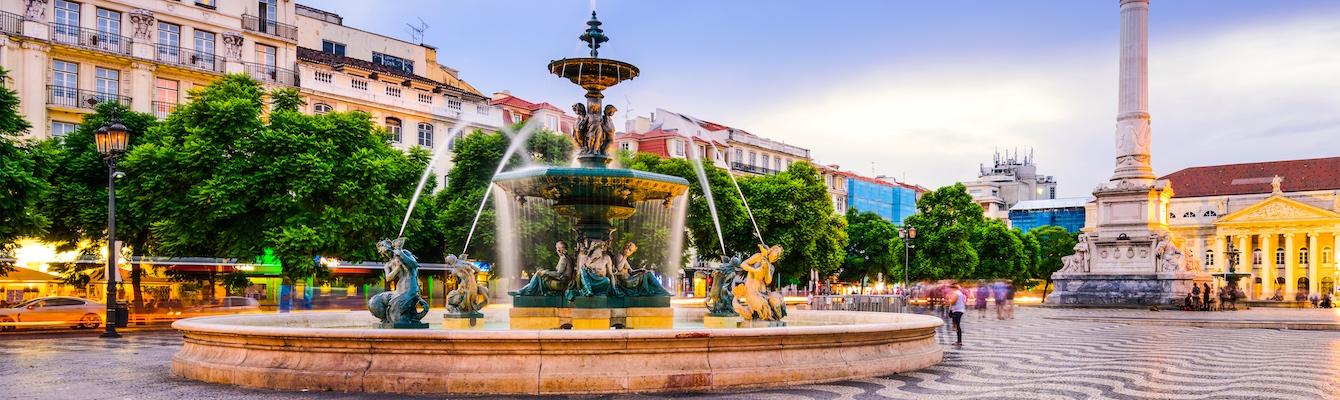 La Praça do Rossio Lisboa