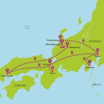 viajar a Japón en 14 días