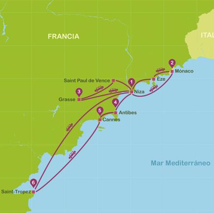 viajar a Niza Costa Azul en 7 días