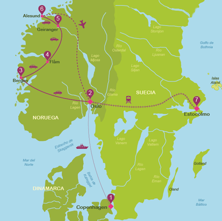 Scandinavia in 15 days for independent travellers