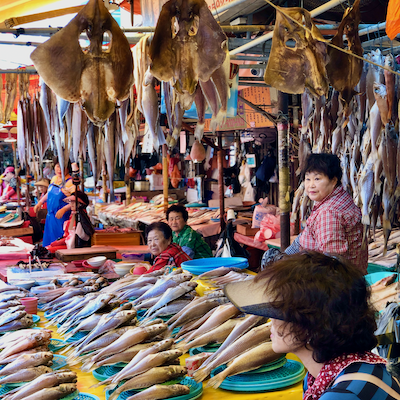 Gamcheon Cultural Village, Jagalchi Fish Market and Busan Tower