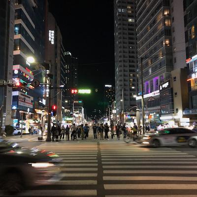Llegada a Busán