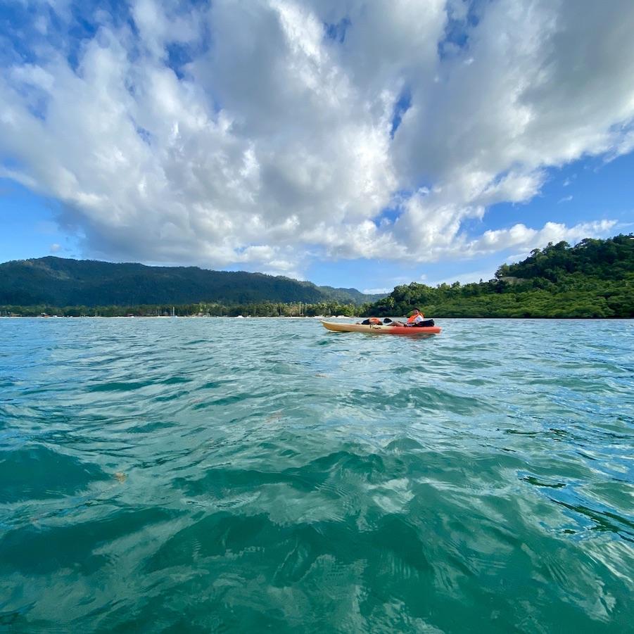 Port Barton: en kayak a White Beach