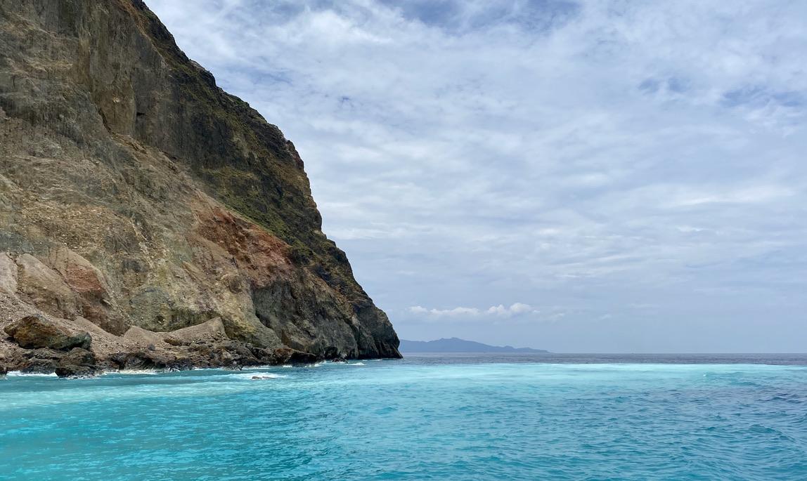 Mar azul en Turtle Island
