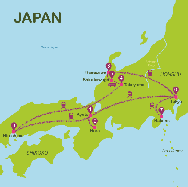 japan travel maps