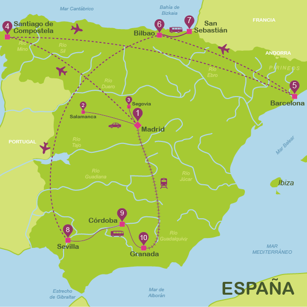 viajar a España en 21 días