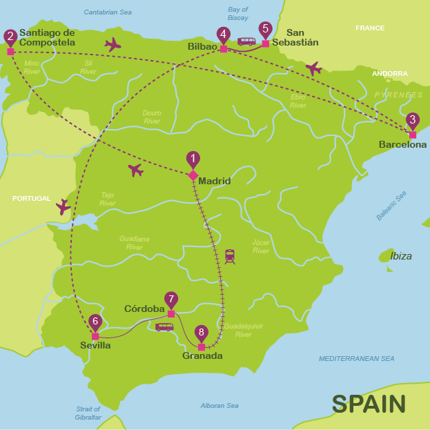 Travel Map Of Spain.Spain Travel Maps