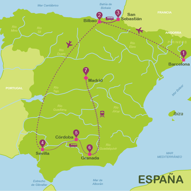 Spain in 15 days for independent travellers